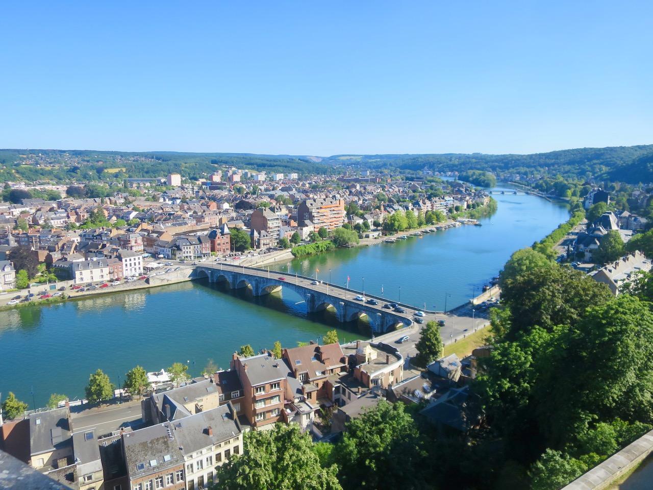 Rio Mosa em Namur, Bélgica