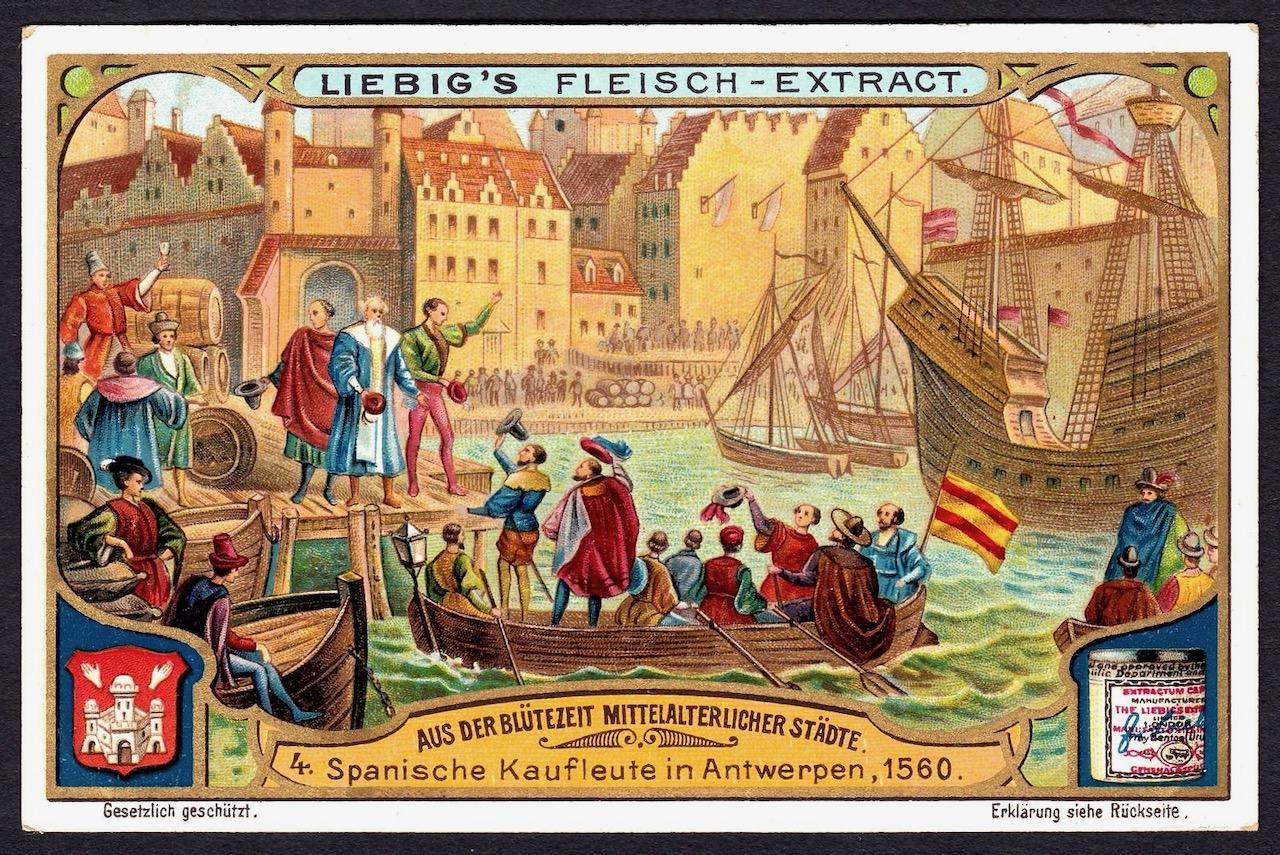 Portos de Antuerpia em 1560