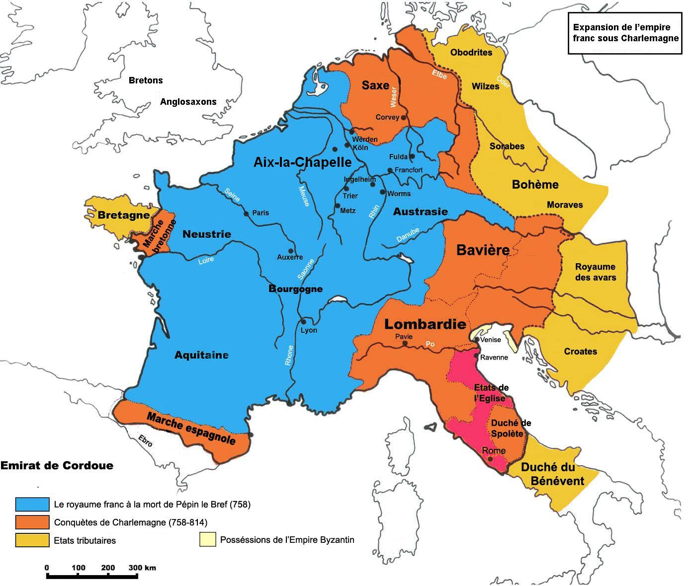 Imperio Carolingio mapa