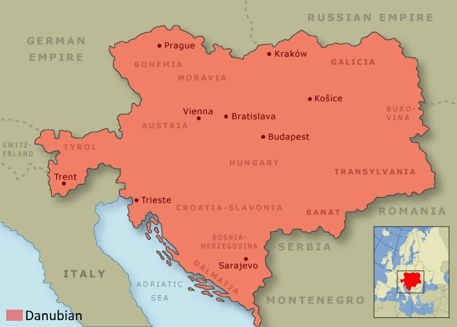 Map Austria Hungary
