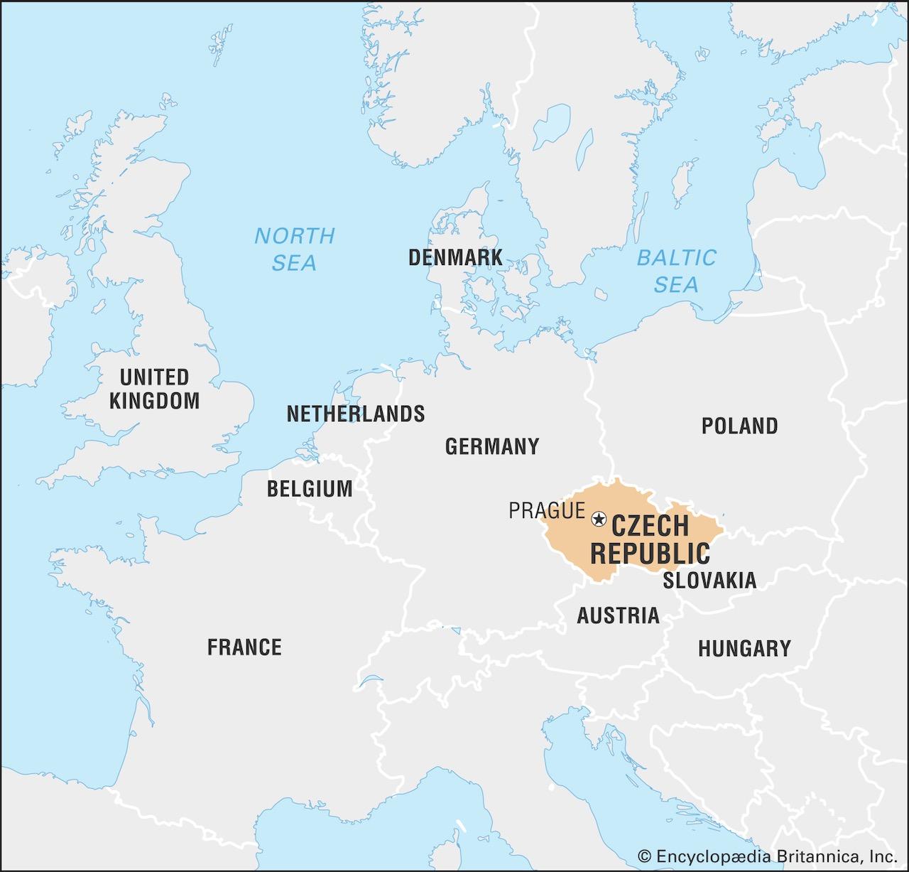 Mapa Europa Central hoje