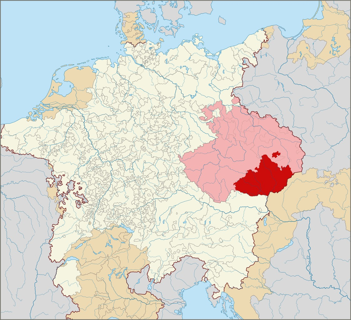 Mapa Margraviado da Moravia