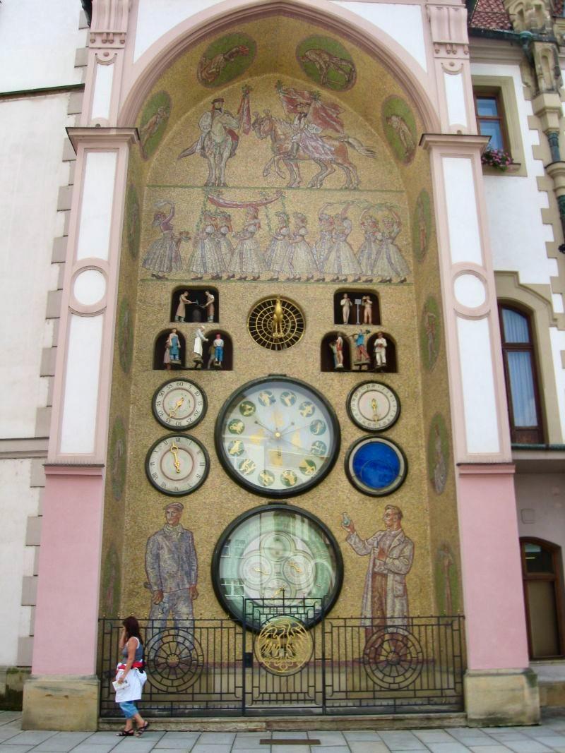 Foto do relógio astronômico de Olomouc