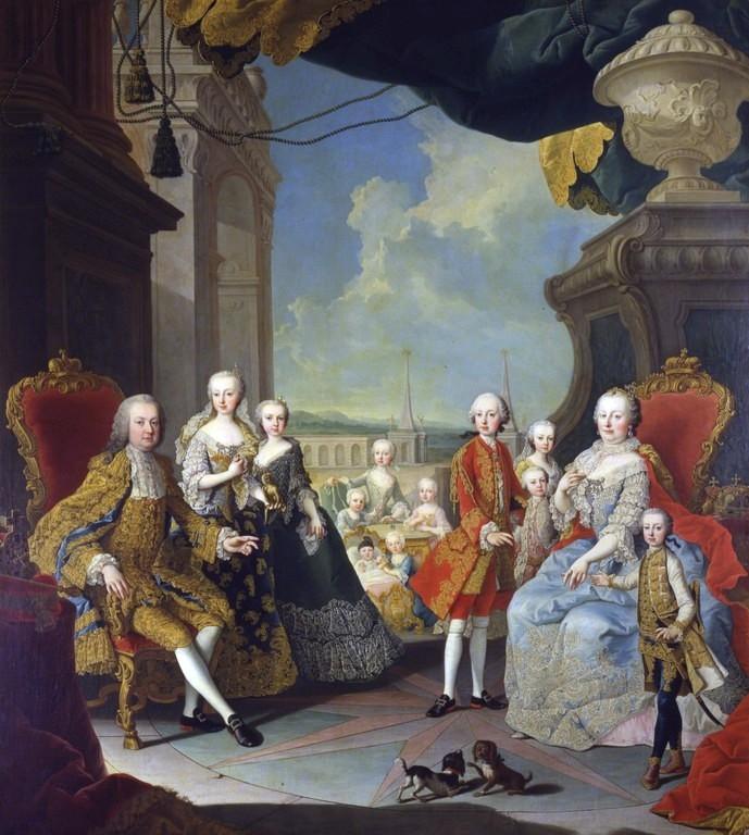 Maria Theresia im Kreise ihrer Familie